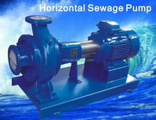 horizontal sewage pump