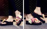 Uniseason Beautiful Flower Ladies High Heel Wedding Favor Slippers