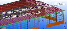 Low cost steel structure workshop design with professional team