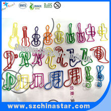 Assorted music note shaped paper clip as creative gift
