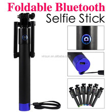 Best selling products Pro Self-portrait Monopods,aluminium bluetooth SelfieStick for girl woman cellphone monopod selfie stick