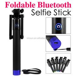 Best selling products Pro Self-portrait Monopods,aluminium bluetooth SelfieStick for girl woman cellphone monopod selfie stick