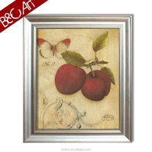 Wholesale decorative picture digital butterfly still life canvas print fruit oil painting