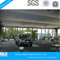 Stainless Aluminum frame tent with glass door