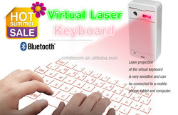 China factory supply virtual laser keyboard with bluetooth connection for smartphone/ Iphone/Ipad laser projection keyboard
