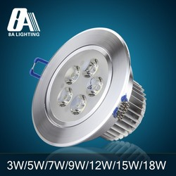 Internal driver recessed 5*1W led downlight with CE RoHS