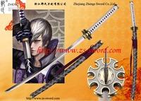 anime & game Sengoku Basara Samurai Heroes cosplay Ishida Mitsunari steel sword katana