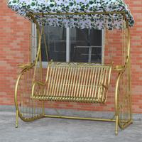 Outdoor Patio Garden Antique Metal Wrought Cast Iron Swing