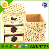 cute storage box for desk, pen container and jewellery box for desk