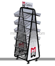 4 metal camada mercearia cremalheiras de exposição