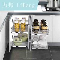 Kitchen Magic Corner Basket Soft Closing Magic Corner For Kitchen Drawer Basket Pull-out Basket Drawers Storage