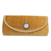 Fashion evening bag and purse pu leather case clutch bag lady handbag