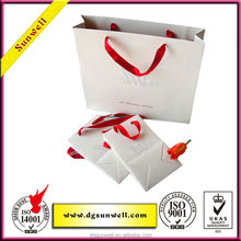 2015 Manufacturer rice paper bag&recycle fashion paper bag with logo printed shopping bag