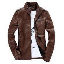 New Style Spring Men Slim Coat PU Leather Motorcycle Leather Jacket Overcoat