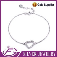 Low price chinese style 925 sterling silver couple bracelets wholesale