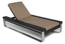 Luxury aluminium brushed rattan sun lounger barbados