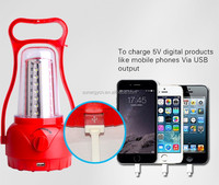 35 leds solar tuntable lantern can charge for mobile phone print logo