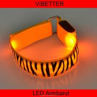 LB-11 Zebra print 2015 Professional Safety Running Light LED Armband
