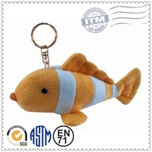 Cute style Lower cost super soft plush fish keychain toy