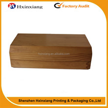 Factory supplier rectangle empty wooden bamboo box for gift and jewelry