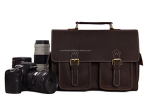 High Quality Genuine Cowhide Leather Camera Bag Fashion Professional DSLR Camera Case for Canon Nikon Sony