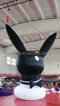 2015 customized black inflatable jumping animal