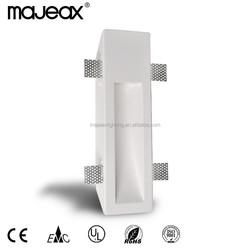 2015 invisiable Modern gypsum plaster super white interior wall lamp for hotel
