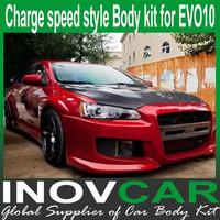 EVO10 CHARGE SPEED style body styling kit, car tuning for Mitsubishi EVO10 body kits