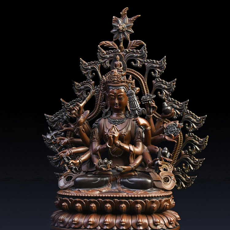 Atacado de Alta Qualidade Fengshui Antigo Tibetano Sentado Estátua Cundi Buddha Mantra para Venda
