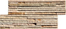 Beige culture stacked veneer slate or quatzite stone wall 35x18