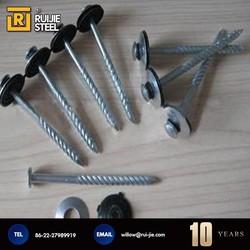 Galvanized Umbrella head roofing nails