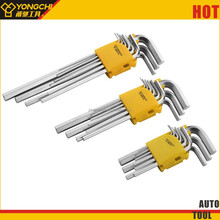 9pcs L typ hex wrench with allen key