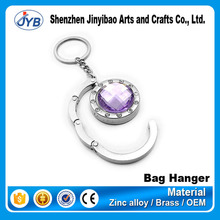 various design crystal compact mirror purse hanger