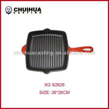High quality cast iron bbq grill fry pan