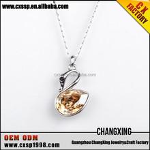 2015 New style lovely diamond gold animal pendant fashion friendship necklace