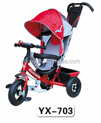 2015 Hot Selling Safety Cheap Price 4 IN 1 Baby Kids Tricycle With Trailer/Children Tricycle Two Seat/Kids Bike