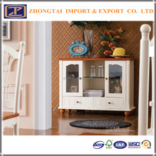 Unique whit color solid wood Dining side cabinet furniture wood for selling ,Dining side cabinet