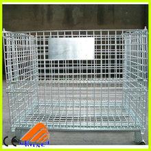 free designed collapsible pallet bin,water bottle cage,heavy duty storage bin