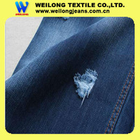 B2275-A warp slub cotton poly spandex denim jeans fabric hot sale in China