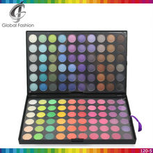 High pigmented accept private label 120colors eye shadow case