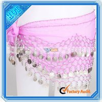 Wholesale Belly Dance Hip Scarves Costume Belt 128 Silver Coins (11002479)