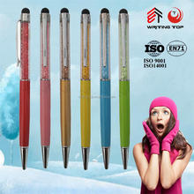 China manufacturer crystal diamond stylus touch ball pen
