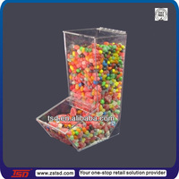 TSD-A985 Pick and mix retail acrylic candy bins display/ perspex candy nut dispensers/ counter top acrylic candy bins