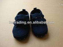 Blue PU suede shoes, double strap boy shoes