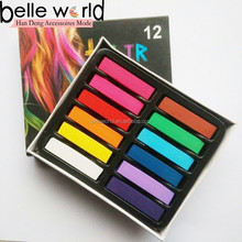 Salon Kit Club Party cosplay Soft 12 colors Pastel Chalk powder temporary hair dye