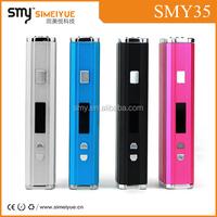 Hot selling slim Mini e cigarette starter kit simeiyue smy35 box mod , evod starter kit, 2014 best vaporizer starter kits/