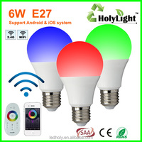 E27 Rrgbw led lights bulbs e27 led bulb energy star a19 6w energy star