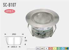 Color Changing LED Underground Lights/ Recessed Uplight/ Deck Lighting