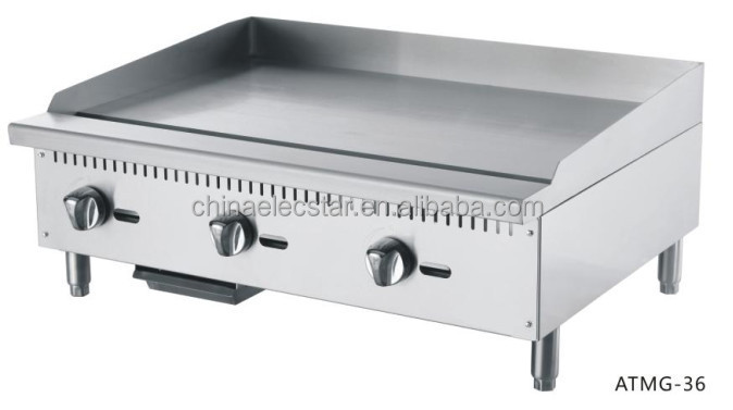 Gas Griddle Counter Top Commercial Stainless Steel Flat