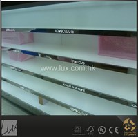 High quality backlit clothes and shoe display wall shelf